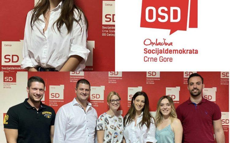 Omladina SD Cetinje izabrala novo rukovodstvo