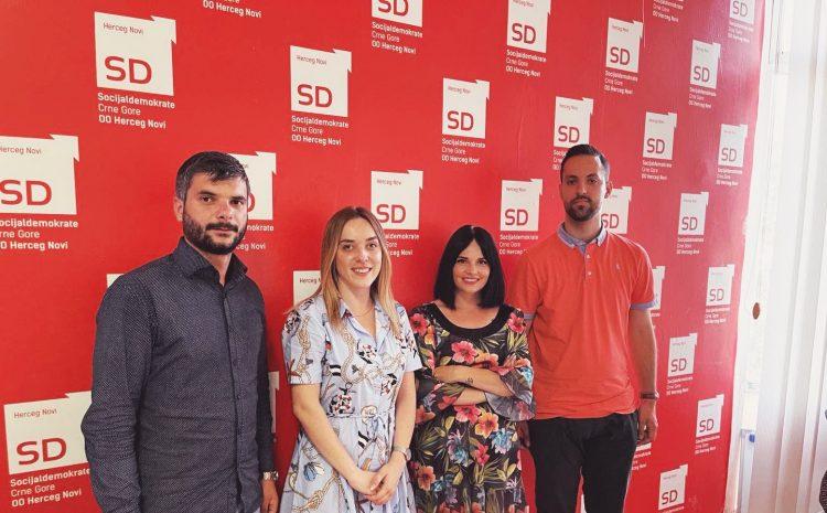 Omladina  SD-a u Herceg Novom  izabrala rukovodstvo